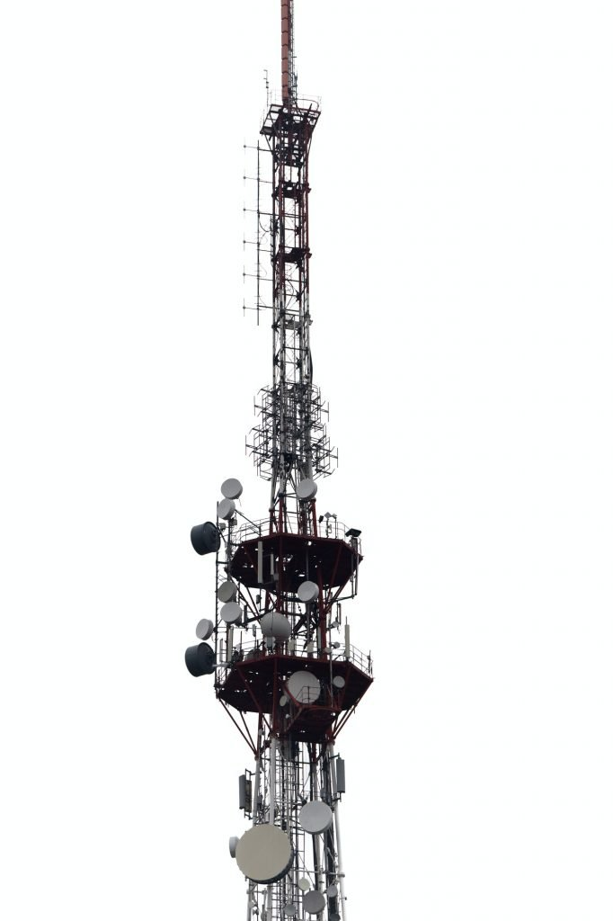 TV tower on white